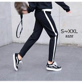 ラインパンツテーパードパンツジョガーパンツ韓国ファッションスウェットパンツ(カジュアルパンツ)
