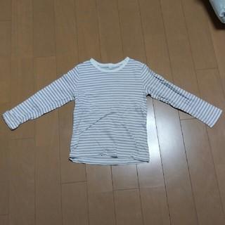 ムジルシリョウヒン(MUJI (無印良品))の無印良品☆毎日のこども服シリーズ ボーダー長袖Tシャツ120(Tシャツ/カットソー)
