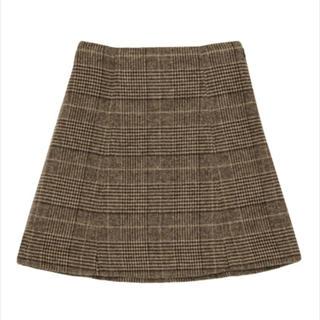 マーキュリーデュオ(MERCURYDUO)のMERCURYDUO グレンチェック台形ミニスカート(ミニスカート)