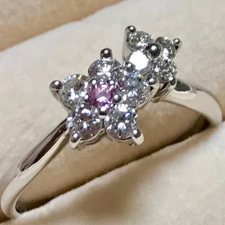 【yewky様専用】天然 ピンクダイヤモンド プラチナリング(リング(指輪))
