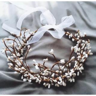 ティアラ カチューシャ 結婚式用髪飾り 森の姫様 マタニティフォト(カチューシャ)