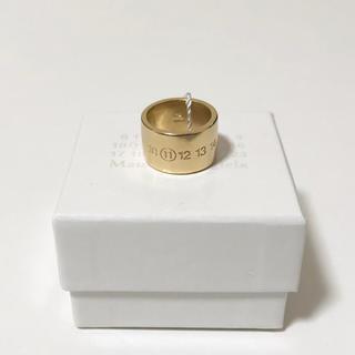 マルタンマルジェラ(Maison Martin Margiela)の【新品】17AW マルジェラ リング シルバー 925 指輪 XS 19号 ロゴ(リング(指輪))