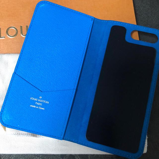 iphone7 ケース おしゃれ 海外  インテリア | LOUIS VUITTON - LV.ヴィトン.スマホケース.iPhone8+.ブルー.7+.フォリオ.の通販 by ヨコ's shop|ルイヴィトンならラクマ