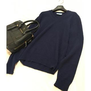 プラダ(PRADA)のプラダ アルパカ 100% ニット セーター ネイビー PRADA(ニット/セーター)