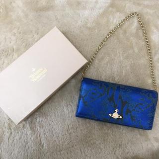 ヴィヴィアンウエストウッド(Vivienne Westwood)の値下げ!ヴィヴィアンウエストウッド ブルー 財布 チェーン(財布)