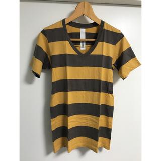 アタッチメント(ATTACHIMENT)のATTACHMENT アタッチメント ボーダーVネックカットソー サイズ1(Tシャツ/カットソー(半袖/袖なし))