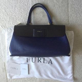 4d67d11b1b79 フルラ FURLA バッグ ビジネス ハンドバッグ A4 紺 白 ネイビー, 商売繁昌SHIMBI 5713b6db