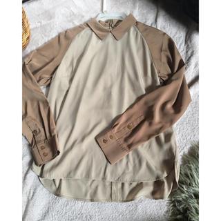ジーヴィジーヴィ(G.V.G.V.)のUNIQLO×gvgv バイカラーシャツ(シャツ/ブラウス(長袖/七分))