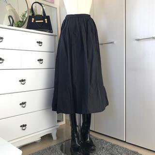 美品 A/T アツロウタヤマ ハリ感タフタ素材バルーンスカート