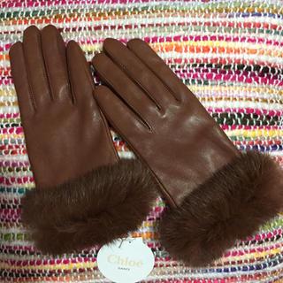 クロエ(Chloe)の新品未使用 クロエ 柔らか♡レザー グローブ 手袋(手袋)