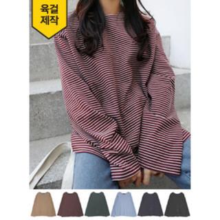ロクロクガールズ(66girls)の66girls ボーダー Tシャツ(Tシャツ(長袖/七分))