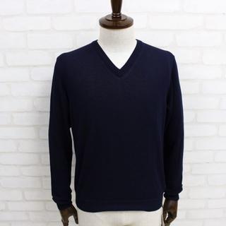 ザノーネ(ZANONE)の新品 ZANONE 紺Vネックセーター 46(ニット/セーター)