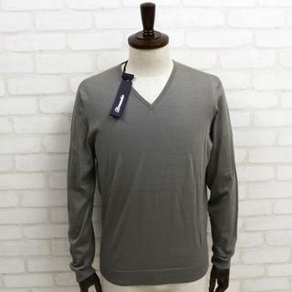 新品 Drumohr グレーVネックセーター 46