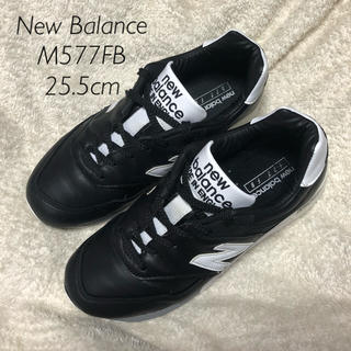 ニューバランス(New Balance)のNew Balance M577FB 25.5cm UK 黒 レザー(スニーカー)