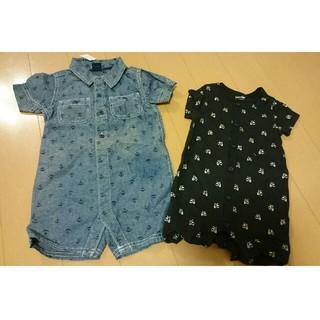ベビーギャップ(babyGAP)の新品・未使用 babyGap ロンパース 半袖 70 80(ロンパース)