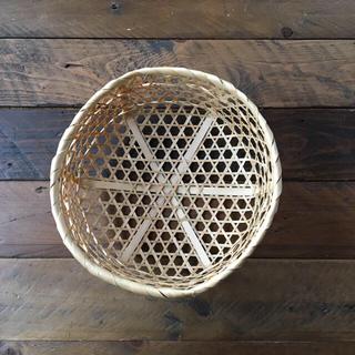 竹カゴ  23㎝   小物収納  竹ザル   水切りかご 小物入れ (バスケット/かご)