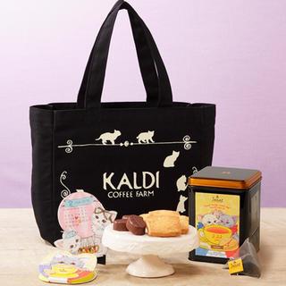 カルディ(KALDI)のKALDI ネコの日バッグ ラッピングしてあります(トートバッグ)