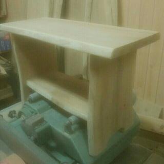 ゆるふわ様専用天然木のサイドテーブル製作中と小物入れのセット(家具)