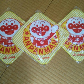アンパンマン(アンパンマン)の限定値下げ☆新品☆非売品☆アンパンマン☆ミニタオル☆3枚セット(ハンカチ)