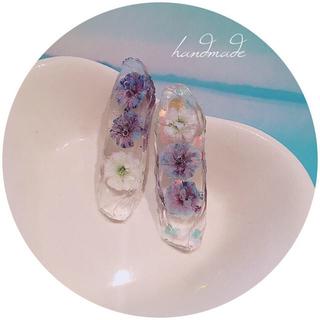 カスタネ(Kastane)のhandmade flower pierce(ピアス)