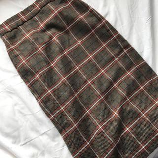 ジーユー(GU)のGU チェックナローミディスカート(ロングスカート)