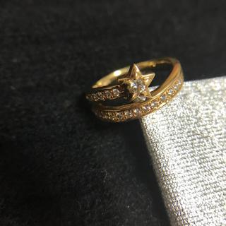 スタージュエリー(STAR JEWELRY)のお値下げ★美品★K18 ダイヤ リング スター 星★12号 指輪(リング(指輪))