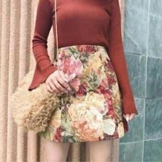 マーキュリーデュオ(MERCURYDUO)のゴブラン柄台形スカート(ミニスカート)