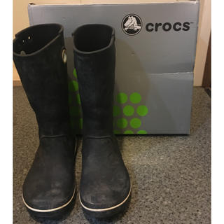 クロックス(crocs)のクロックス 長靴 黒 ブラック(長靴/レインシューズ)