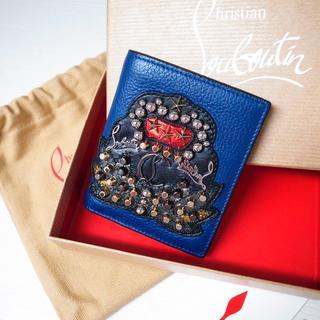 クリスチャンルブタン(Christian Louboutin)の正規品♡美品♡ルブタン 折りたたみ財布 クラウン パロス ネイビー バッグ 財布(折り財布)