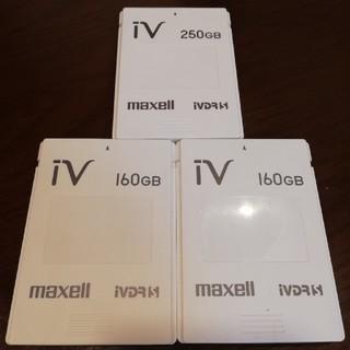 マクセル(maxell)のiVDR-S 3個セット(250GB.160GB×2個)(PC周辺機器)
