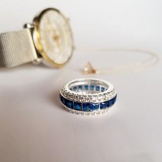 フルエタニティー サファイア ゴージャスリング11号(リング(指輪))
