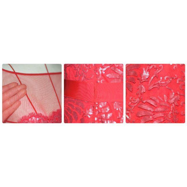 TADASHI SHOJI(タダシショウジ)の【オリビア様専用】Tadashi shoji ディープローズ ワンピース 6  レディースのワンピース(ひざ丈ワンピース)の商品写真