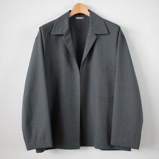 コモリ(COMOLI)の完売 新品 AURALEE 18SS ウールシルクトロピカルシャツジャケット 3(テーラードジャケット)