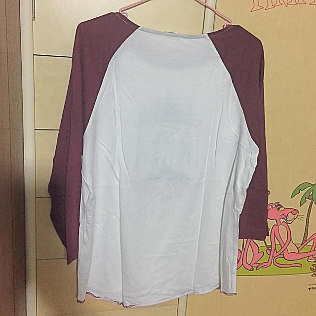 GU(ジーユー)のGU 七分袖ラグランTシャツ レディースのトップス(Tシャツ(長袖/七分))の商品写真