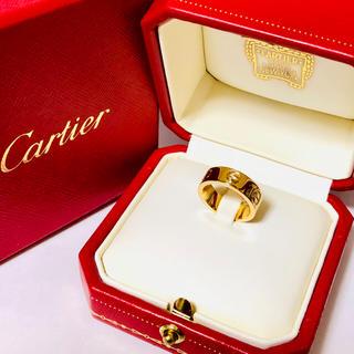 カルティエ(Cartier)のカルティエ ラブリング  YG イエローゴールド 45号 新品同様 箱付(リング(指輪))