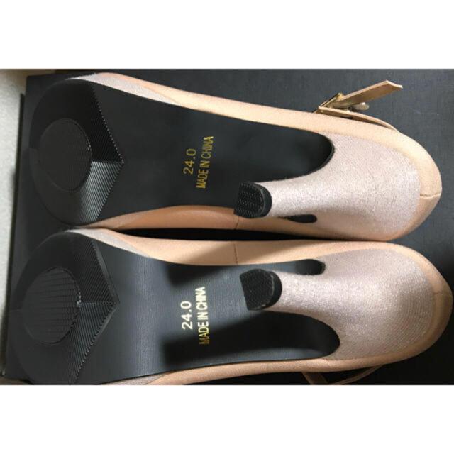 ピンクヒールキラキラストラップパンプス 24cm ハイヒール レディースの靴/シューズ(ハイヒール/パンプス)の商品写真