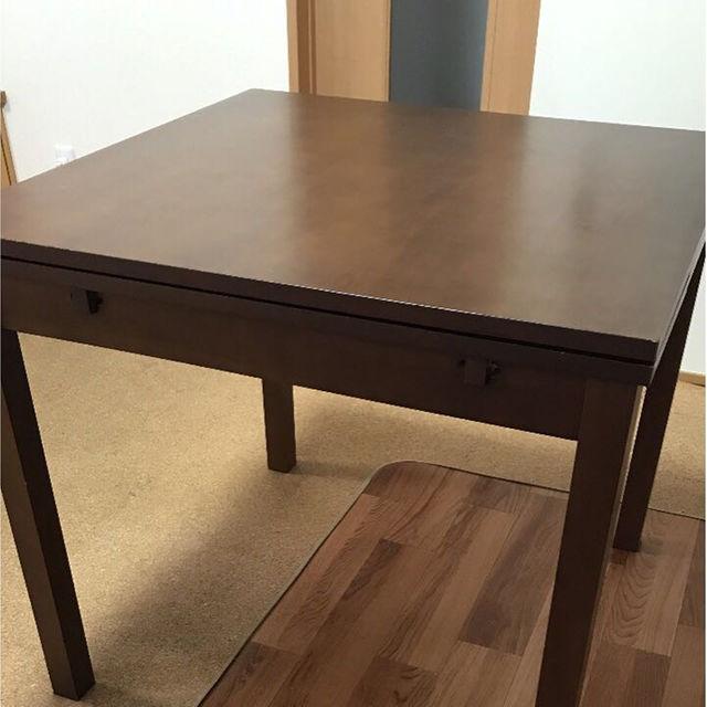 無印良品 MUJI 丸 ダイニングテーブル オーク材の画像