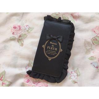 ブランドロゴフリルiPhone7/8ケース/ フルール ド (Maison de FLEUR) メゾン 【sweet4月号掲載】