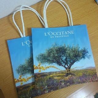 ロクシタン(L'OCCITANE)のロクシタン紙袋2枚セットリップ付き(ショップ袋)