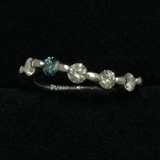 プラチナ&ブルーダイヤモンドリング(リング(指輪))