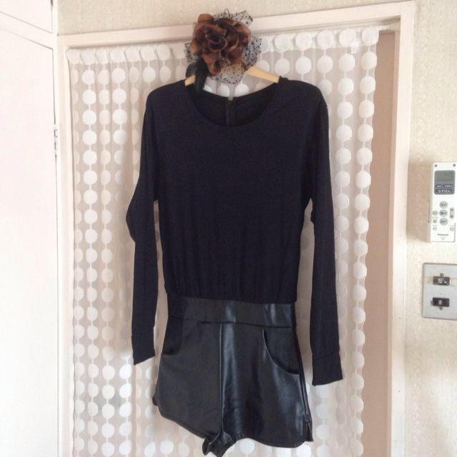 SLY(スライ)のSLY黒オールインワン レディースのパンツ(オールインワン)の商品写真