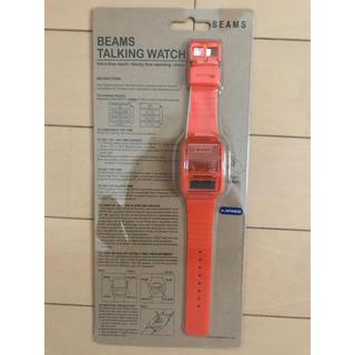 ビームス(BEAMS)のBEAMS TAKING WATCH オレンジ(腕時計(デジタル))