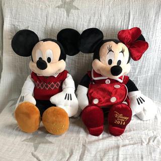 ミッキーマウス(ミッキーマウス)のディズニー Disney Store 2014 クリスマス限定ミッキー ミニー(ぬいぐるみ)