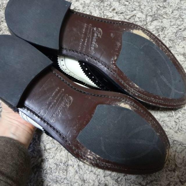 Paraboot(パラブーツ)のパラブーツ★Paraboot★レースアップシューズ★ブラック×ホワイト★ レディースの靴/シューズ(ローファー/革靴)の商品写真