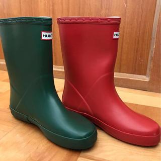 ハンター(HUNTER)のハンター  UK1  20 長靴 レインブーツ キッズ 新品 子供  赤(長靴/レインシューズ)