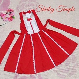 シャーリーテンプル(Shirley Temple)の♡215♡シャーリーテンプル♡レースたっぷりホルダーネックサンドレス♪120cm(ワンピース)