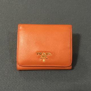 プラダ(PRADA)のプラダ コンパクト 財布 オレンジ 国内正規品(財布)