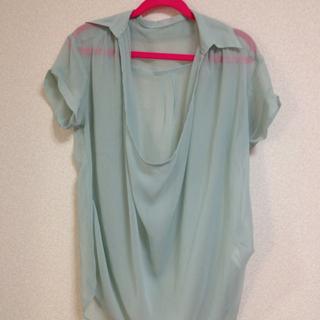 パステルグリーンシャツ(シャツ/ブラウス(半袖/袖なし))