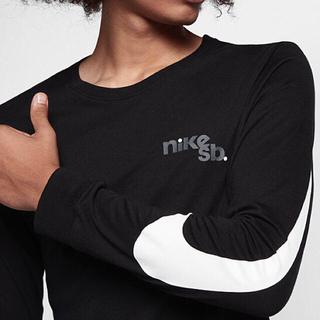 ナイキ(NIKE)のナイキ SB NIKE SB ロンT 白赤 黒白 スケボー(Tシャツ/カットソー(七分/長袖))