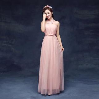 ドレス パーティードレス ピンク(ロングドレス)